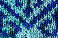 East European knitted pattern. Close up details of East European knitting pattern Royalty Free Stock Photography