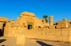 East Exterior Wall of the Karnak Temple Royalty Free Stock Photo