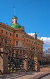 East facade of Mikhailovsky castle in St. Petersburg Stock Image