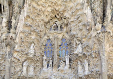 East Facade at Sagrada Familia,Barcelona, Spain Stock Images