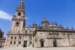 East facade of Santiago de Compostela cathedral Royalty Free Stock Images
