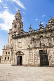 East facade of Santiago de Compostela cathedral Stock Photo