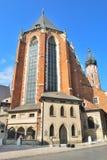 Krakow, Poland. St. Mary's Church Stock Images