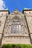 East facade of Stavanger Cathedral  (XIII c.) Royalty Free Stock Image