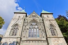 East facade of Stavanger Cathedral  (XIII c.) Stock Images