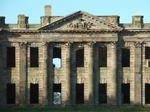 East facade, Sutton Hall, Sutton Scarfield, Derbyshire, England Stock Image