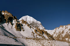 East Face of sacred Mount Kailash Royalty Free Stock Photography