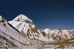 East Face of sacred Mount Kailash. Morning view to the East Face of sacred Mount Kailash in Tibet Stock Photography