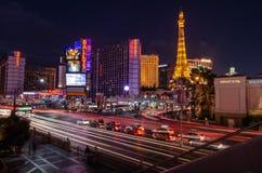 East Flamingo Road in Las Vegas stock images
