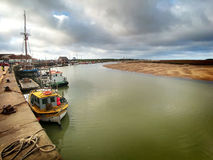 East Fleet River Wells next the Sea Royalty Free Stock Image