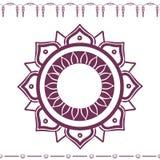 East flower ornament. Vector eps royalty free illustration