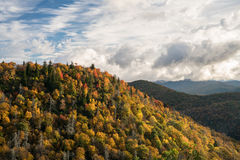 East Fork Fall Splendor. Fall color at East Fork Overlook on the Blue Ridge Parkway Stock Photography