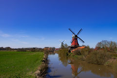 East Frisian mills. A beauty East Frisian mills Stock Photo