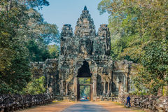 East gate angkor thom cambodia Stock Photography