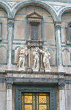 East gate of Baptistery in Florence. Fragment of east gate of Baptistery in Florence Royalty Free Stock Photos