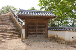 East Gate of Bitchu Matsuyama castle, Takahashi, Japan Stock Photos