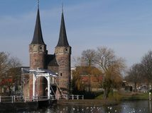 The east gate in Delft in the Netherlands Stock Images