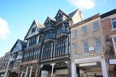 East gate street Chester. Tudor black and white buildings in East gate street, chester Stock Image