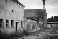East German dilapidated farmhouse Stock Photos