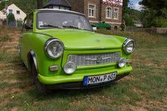 East-German plastic vintage Trabant car in  Münstermaifeld,  Germany Stock Image