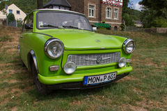 East-German plastic vintage Trabant car in  Münstermaifeld,  Germany Stock Image