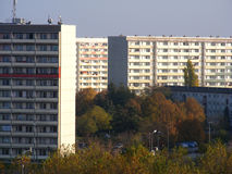 East German Plattenbau Royalty Free Stock Photos