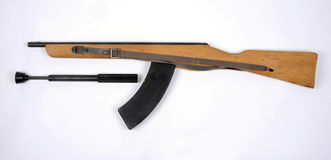 East German training rifle. East German bayonet training rifle based on the MpiK assault rifle (AK-47 royalty free stock photo