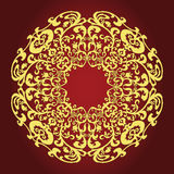 East gold ornament on a claret background Royalty Free Stock Image