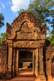 East Gopura in Banteay Srey Temple, Cambodia Royalty Free Stock Images