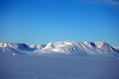 East Greenland coastal winter landscape royalty free stock photography