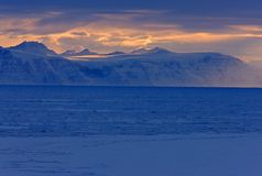 East Greenland coastal winter landscape Royalty Free Stock Photo