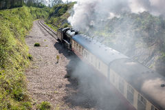 EAST GRINSTEAD, SUSSEX/UK - APRIL 06 : Steam Train on the Bluebe Stock Photos