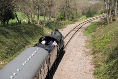 EAST GRINSTEAD, SUSSEX/UK - APRIL 06 : Steam Train on the Bluebe Royalty Free Stock Images