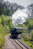 EAST GRINSTEAD, SUSSEX/UK - APRIL 06 : Steam Train on the Bluebe Royalty Free Stock Photography