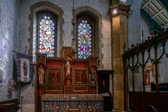 EAST GRINSTEAD,  WEST SUSSEX/UK - AUGUST 18 :  Altar in St Swith. Un`s Church East Grinstead West Sussex on August 18, 2018 Royalty Free Stock Image