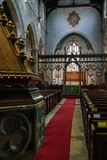 EAST GRINSTEAD,  WEST SUSSEX/UK - AUGUST 18 :  Main altar in St. Swithun`s Church East Grinstead West Sussex on August 18, 2018 Royalty Free Stock Photo