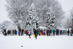EAST GRINSTEAD, WEST SUSSEX/UK - JANUARY 6 : Winter scene in Eas Royalty Free Stock Image