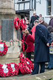EAST GRINSTEAD WEST SUSSEX/UK - NOVEMBER 13 : Memorial Service o. N Remembrance Sunday in East Grinstead West Sussex on November 13, 2016. Unidentified people Royalty Free Stock Photos