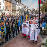 EAST GRINSTEAD WEST SUSSEX/UK - NOVEMBER 13 : Memorial Service o. N Remembrance Sunday in East Grinstead West Sussex on November 13, 2016. Unidentified people Stock Image