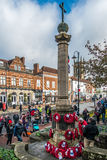 EAST GRINSTEAD WEST SUSSEX/UK - NOVEMBER 13 : Memorial Service o. N Remembrance Sunday in East Grinstead West Sussex on November 13, 2016. Unidentified people Stock Photos