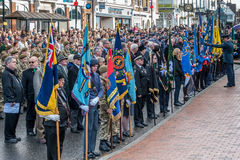 EAST GRINSTEAD WEST SUSSEX/UK - NOVEMBER 13 : Memorial Service o. N Remembrance Sunday in East Grinstead West Sussex on November 13, 2016. Unidentified people Royalty Free Stock Images