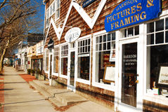 East Hampton Business District. The classic look of East Hampton, one of the many communities that make up the Hamptons on Long Island Royalty Free Stock Photography
