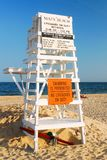 East Hampton Main Beach. Swimming is temporarily forbidden for lack of lifeguards on Main Beach in East Hampton Long Island royalty free stock photos