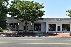 East hampton new york state main street city. There is main street of East hampton in state of New York , one of the american heritage city , which was Royalty Free Stock Images