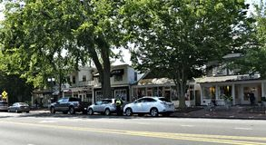 East hampton new york state main street city. There is main street of East hampton in state of New York , one of the american heritage city , which was Stock Photo