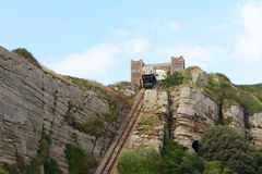 East Hill Cliff funicular railway in Hastings, England Stock Images