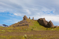 East Iceland Nature Landscape with Basalt rocks Stock Photography