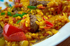 East Indian Biryani Rice Dish with Meat Royalty Free Stock Image
