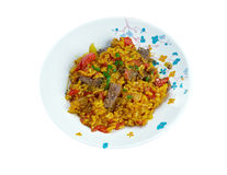 East Indian Biryani Rice Dish with Meat Stock Photos