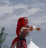 East Indian Dancer At Edmonton's Heritage Days 2013 Stock Images